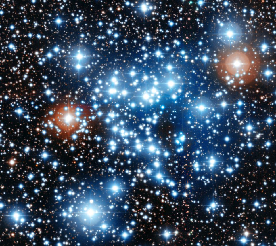 Stars form in a wide variety of sizes, colors and masses.