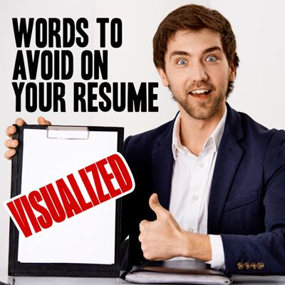 words to avoid on your resume visualized