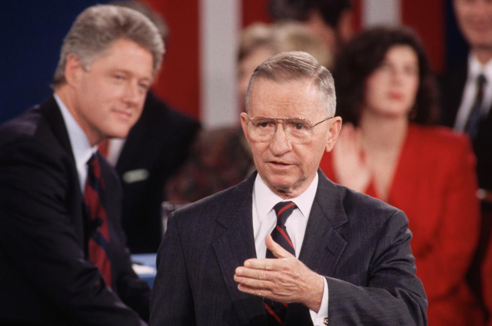 Ross Perot Speaking at the Presidential Debate