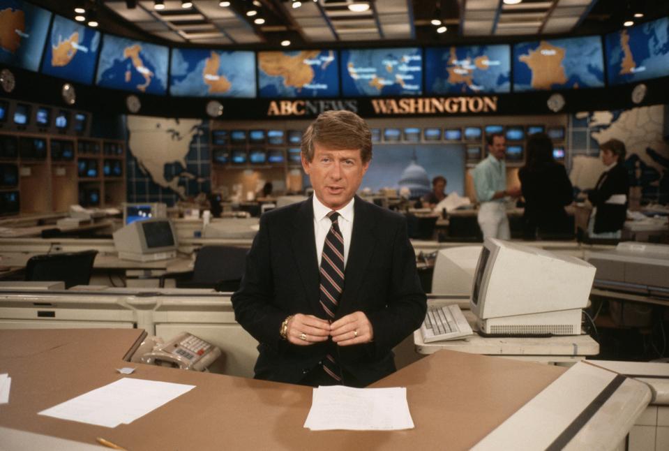 Ted Koppel During Nightline Broadcast
