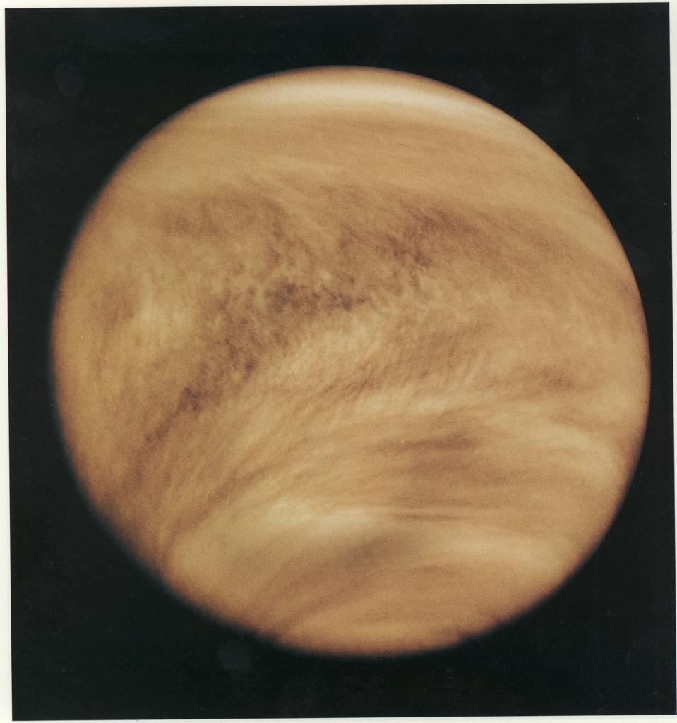 Ultraviolet image of Venus' clouds as seen by the Pioneer Venus Orbiter (Feb. 26, 1979).