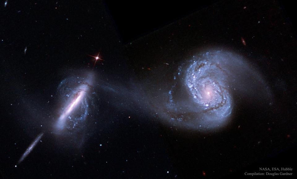 The interacting spiral galaxy pair known as Arp 87.