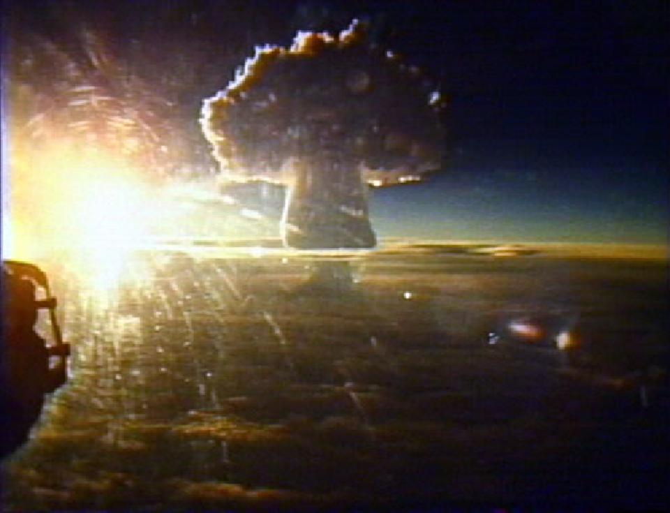 The largest human-made explosion to ever occur on Earth was the Soviet Union's Tsar Bomba.