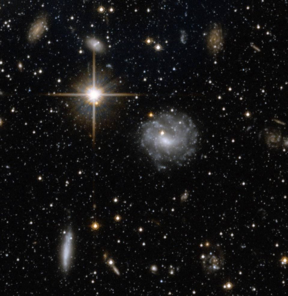 Diffuse light arises from a variety of sources, including galaxies shown here.