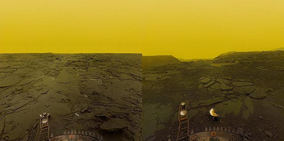 The surface of Venus, from the only spacecraft to ever successfully land & transmit data.