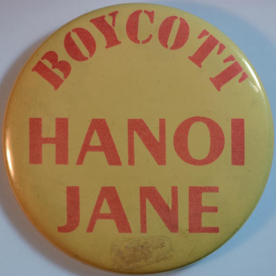 Anti Jane Fonda Pin