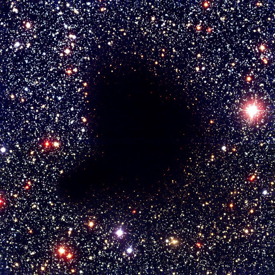 The dark nebula Barnard 68, now known to be a molecular cloud.