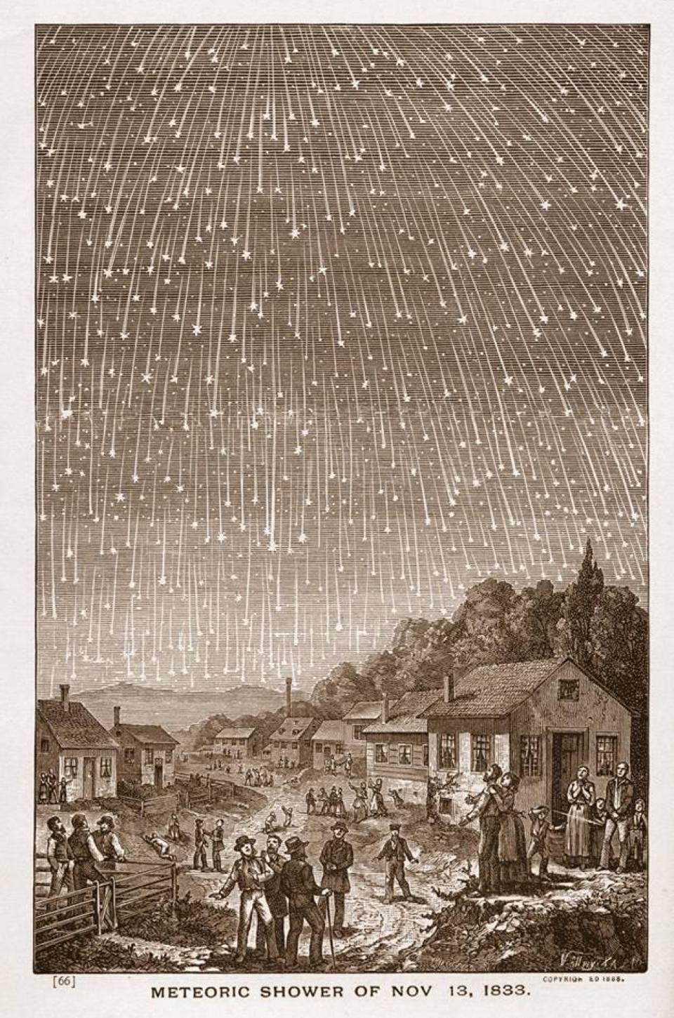 The great meteor storm of 1833, which repeats roughly every 33 years.