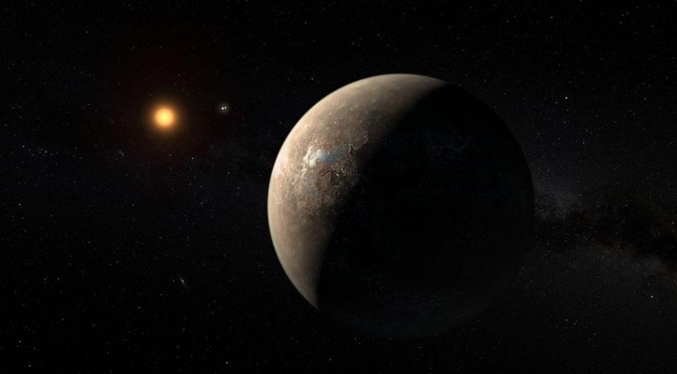 Artist's illustration of exoplanet Proxima b.