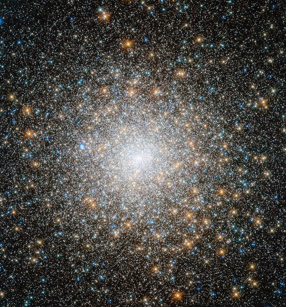 The ancient globular cluster Messier 15, a typical old globular cluster.