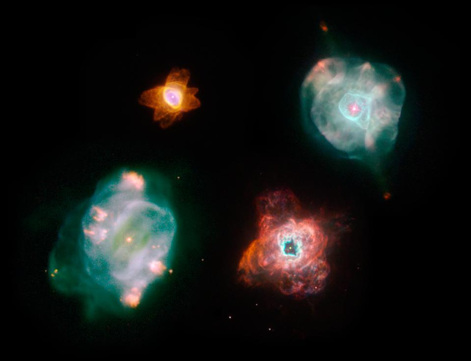 Planetary nebulae and supernovae are the two main ways stars recycle their material.