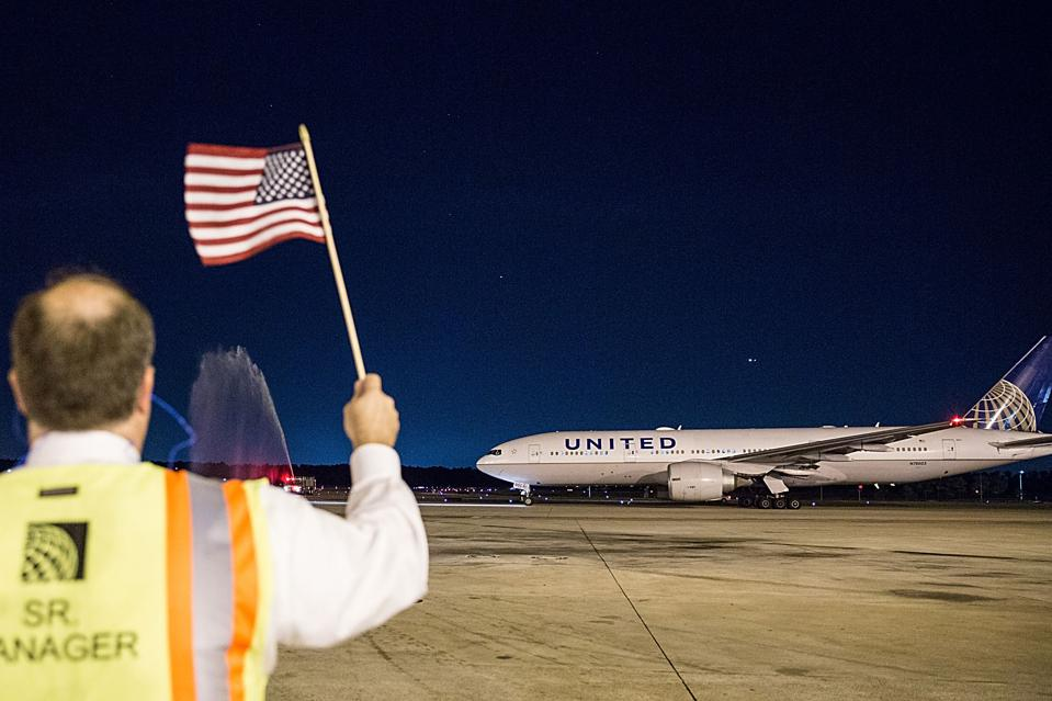 United Airlines celebrates Team USA as over 85 U.S. athletes takeoff