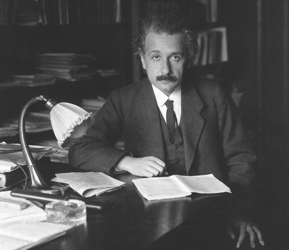 Albert Einstein, photographed in 1920.
