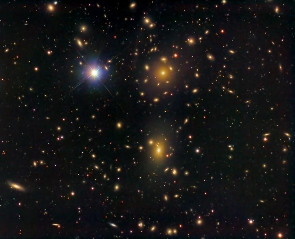 Coma Cluster galaxiers move too fast to remain gravitationally bound without dark matter.