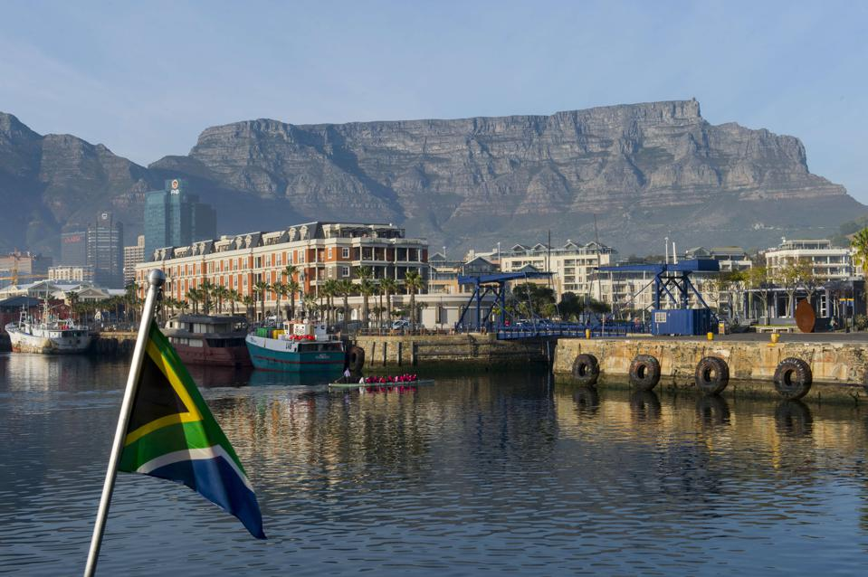 The V & A Waterfront in Cape Town, South Africa with Table...