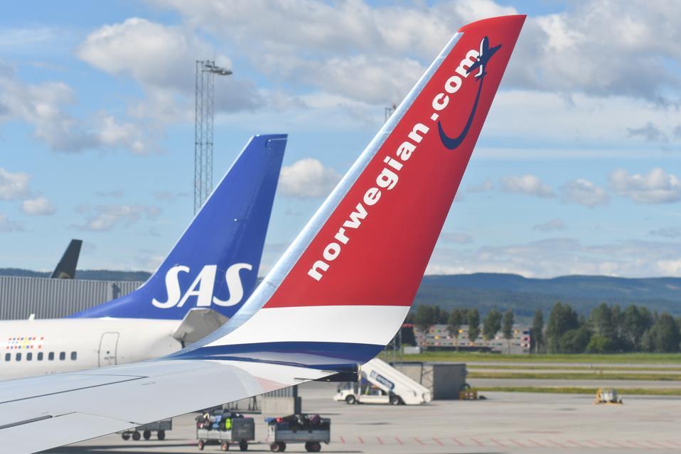 Planes at Oslo Gardermoen International Airport