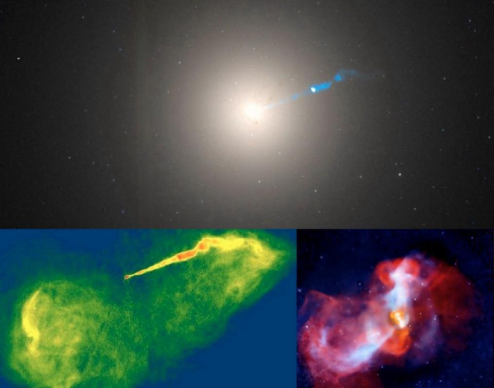 The second-largest black hole as seen from Earth, the one at the center of the galaxy M87.