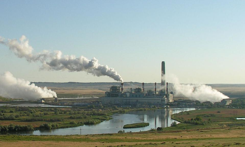 Pollution from factories and power plants burning fossil fuels for energy.