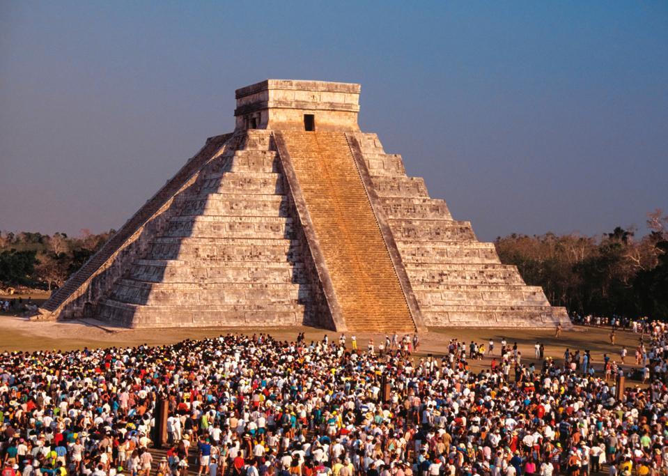 Spring Equinox Celebration. Chichen-itza. Yucatan. Mexico
