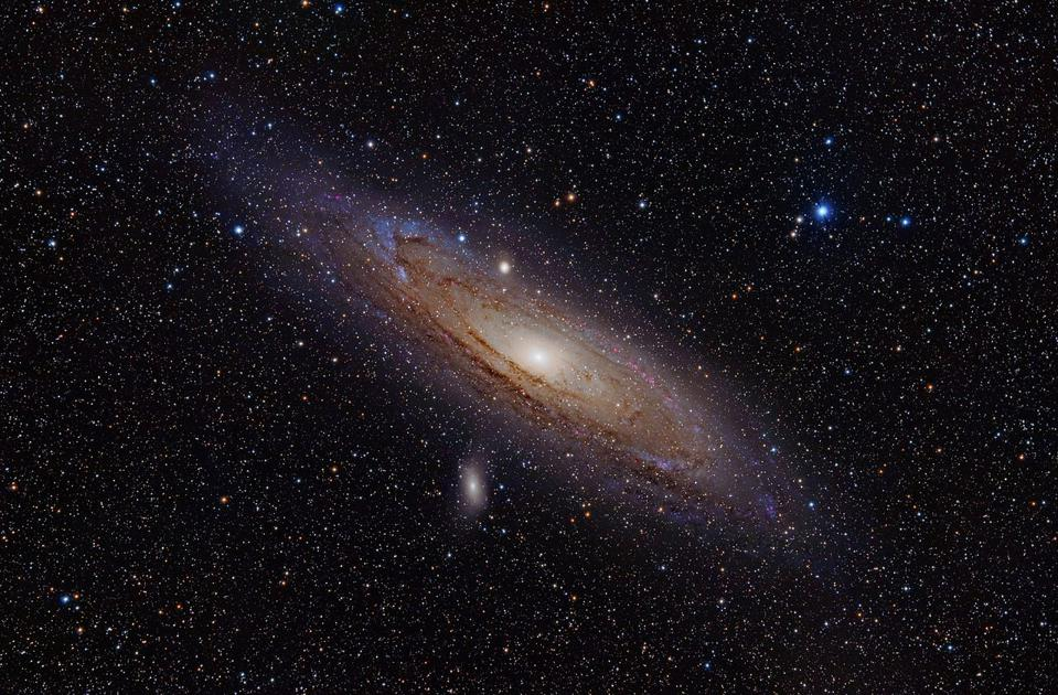 The Andromeda Galaxy, in our local group, is nearly twice the diameter of our Milky Way.