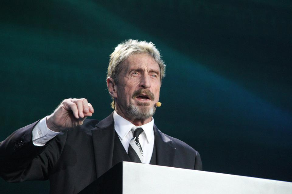 John McAfee has launched the McAfeeDEX decentralized exchange.