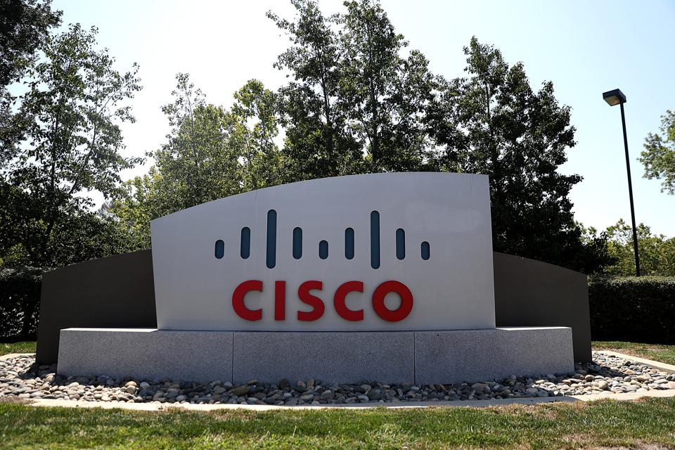 Cisco Systems headquarters on August 17, 2016 in San Jose, California. (Photo by Justin Sullivan/Getty Images)