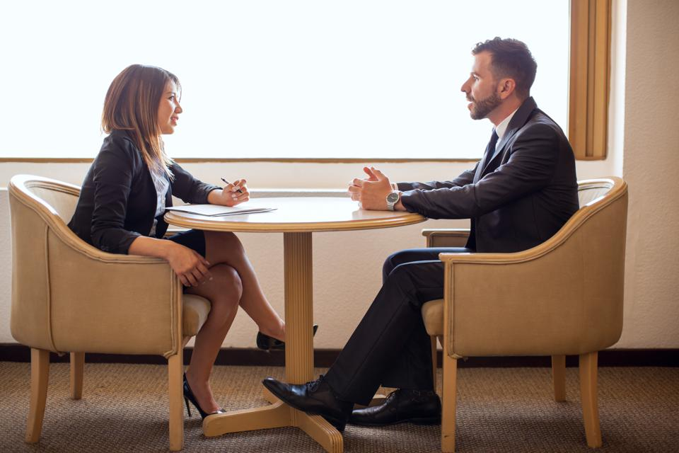 Female recruiter interviewing a candidate