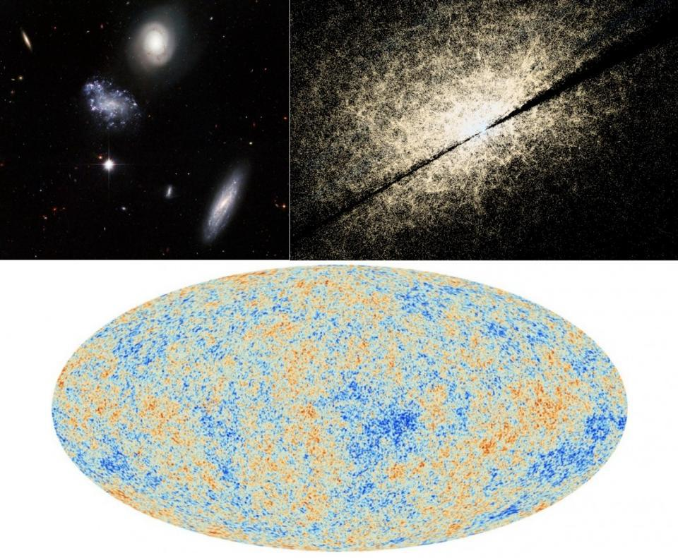 The structures in the Universe and the CMB all support the Big Bang.