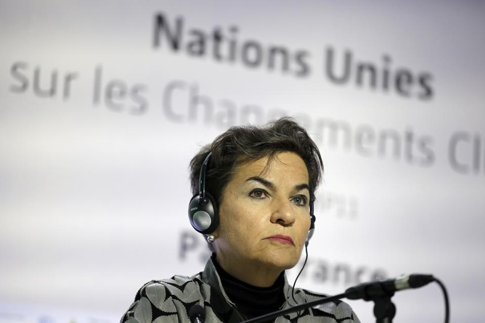 Former United Nations climate chief Christiana Figueres at the Paris Climate Conference.