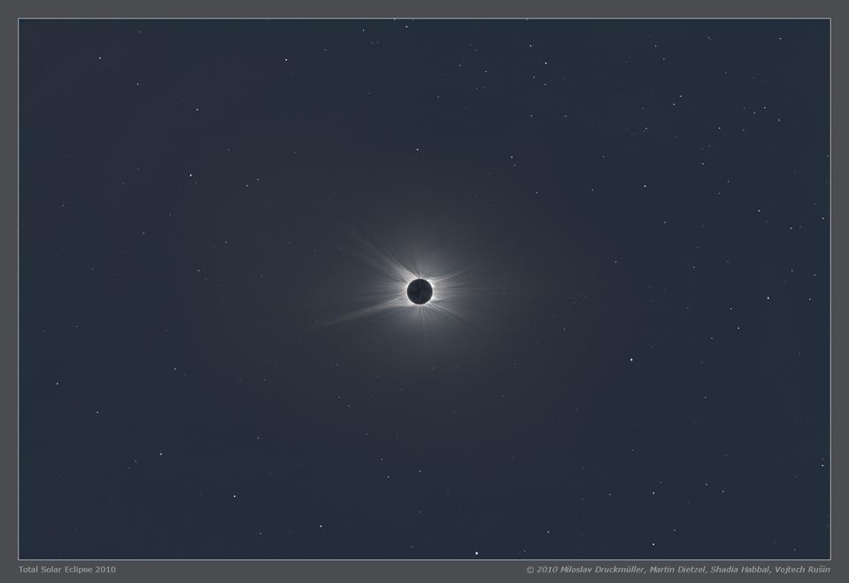 During a total solar eclipse, stars can be visible during the day.