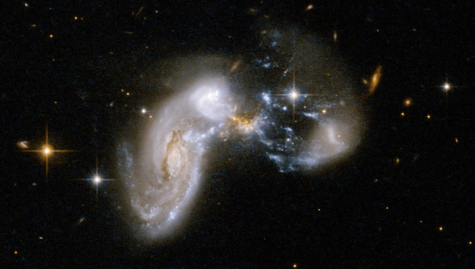 Zw II 96, an example of a galaxy merger located some 500 million light-years away.