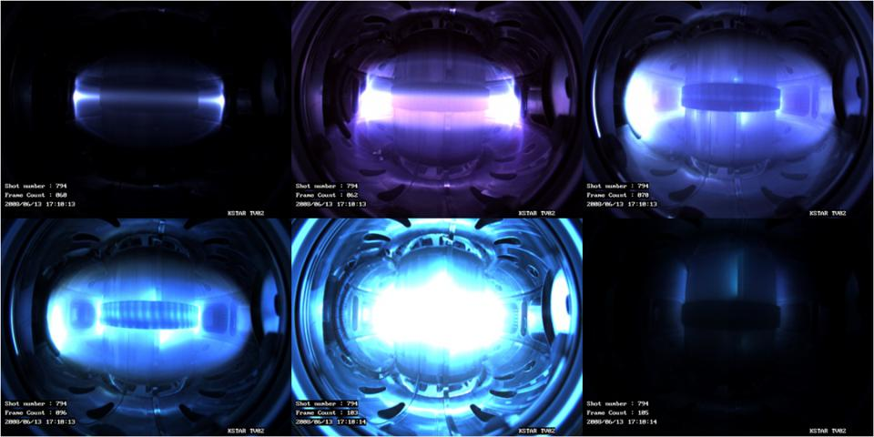 A fusion device based on magnetically confined plasma.