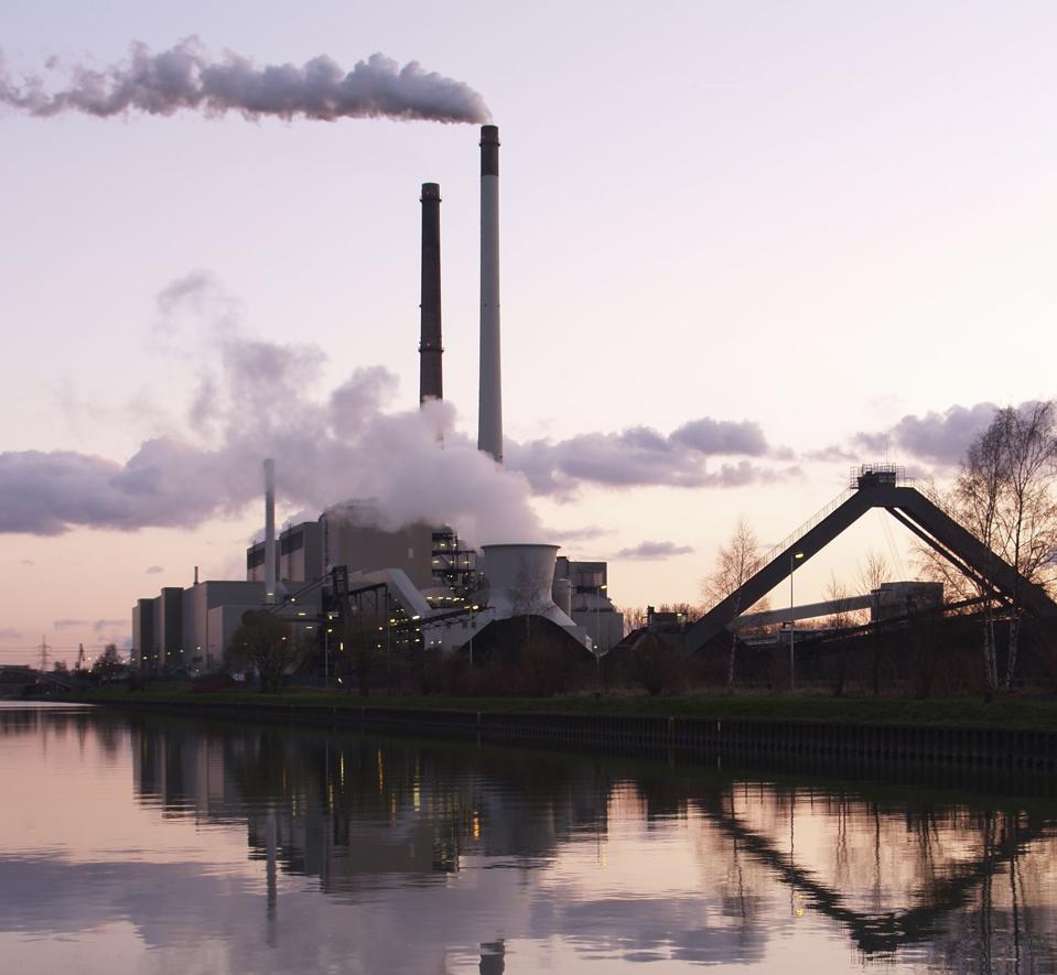 Coal power plant in Datteln (Germany) at the Dortmund-Ems-Kanal.
