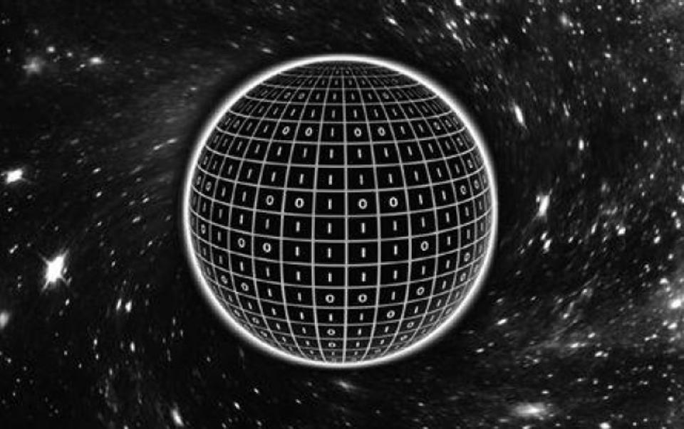 Encoded on the surface of the black hole can be bits of information.