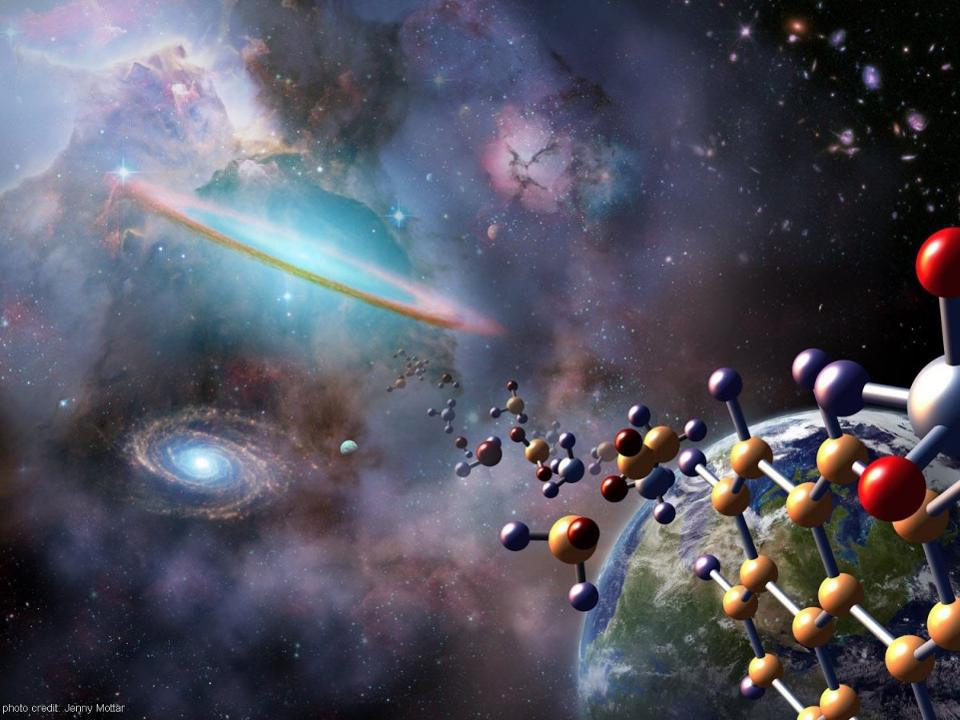 Some of the complex atoms and molecules found in interstellar space.