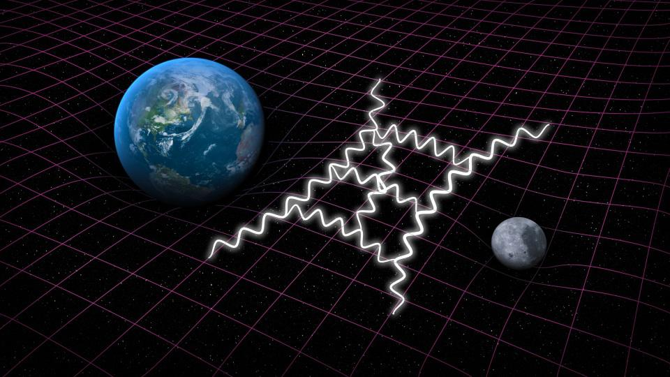 Quantum gravity tries to combine Einstein's general theory of relativity with quantum mechanics.