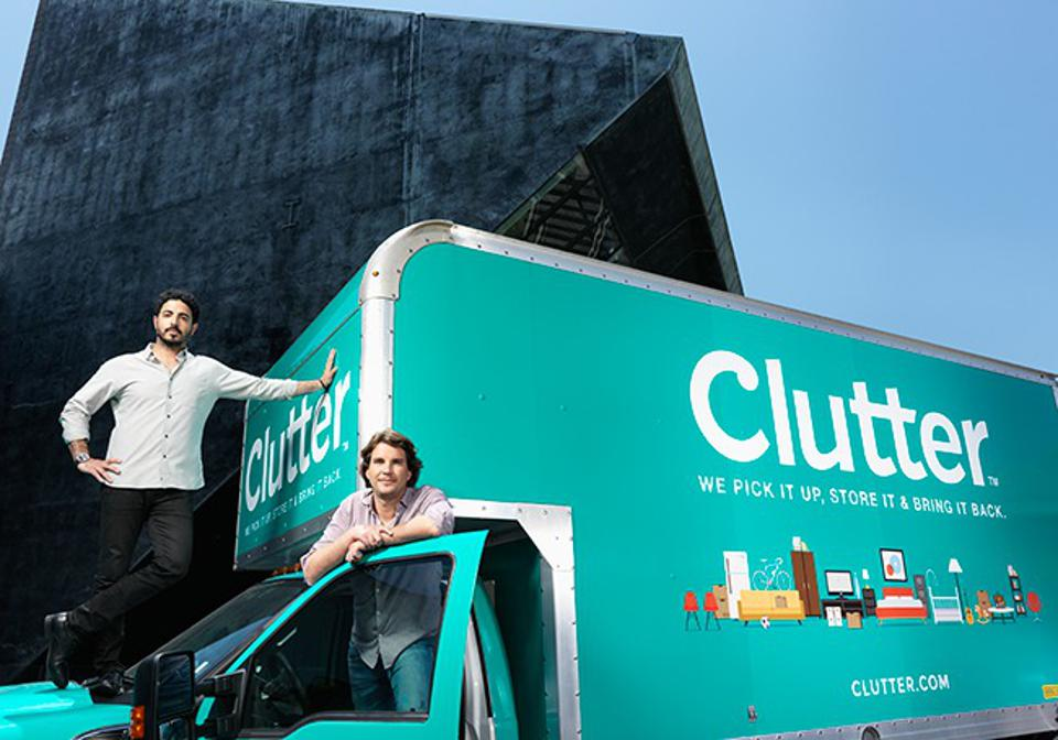 Clutter cofounders Ari Mir, chief executive, (left) and Brian Thomas, chief people officer.