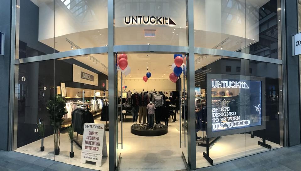 Untuckit's store at Brookfield Place in Southern Manhattan.