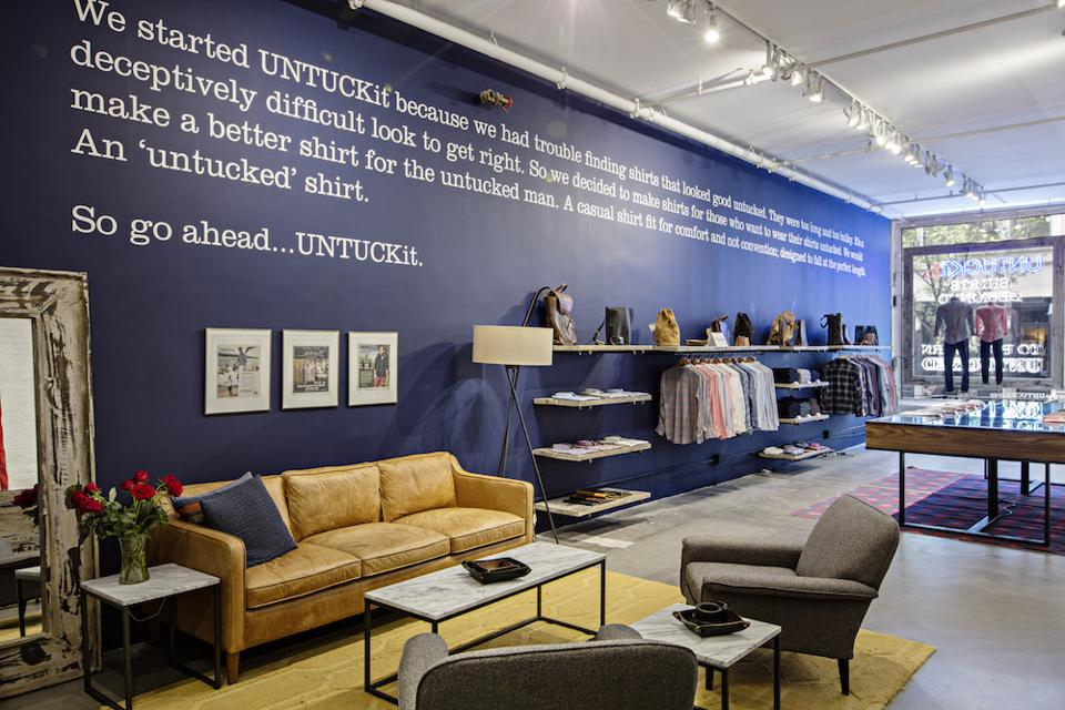 Untuckit's store on Prince Street in SoHo.