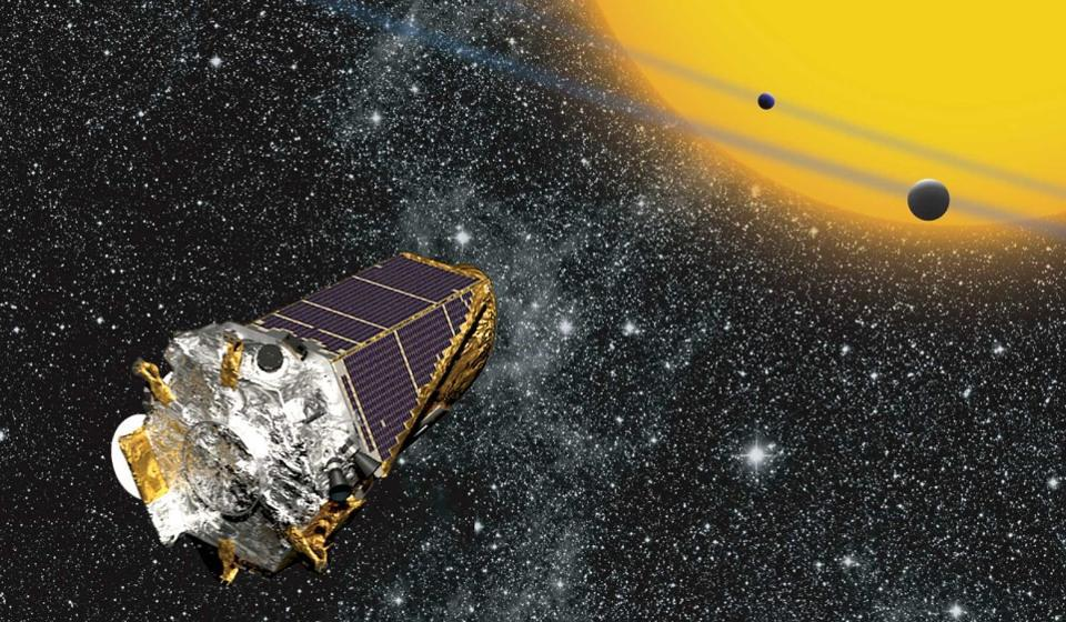 Illustration of the planet-finding space telescope, Kepler, from NASA.