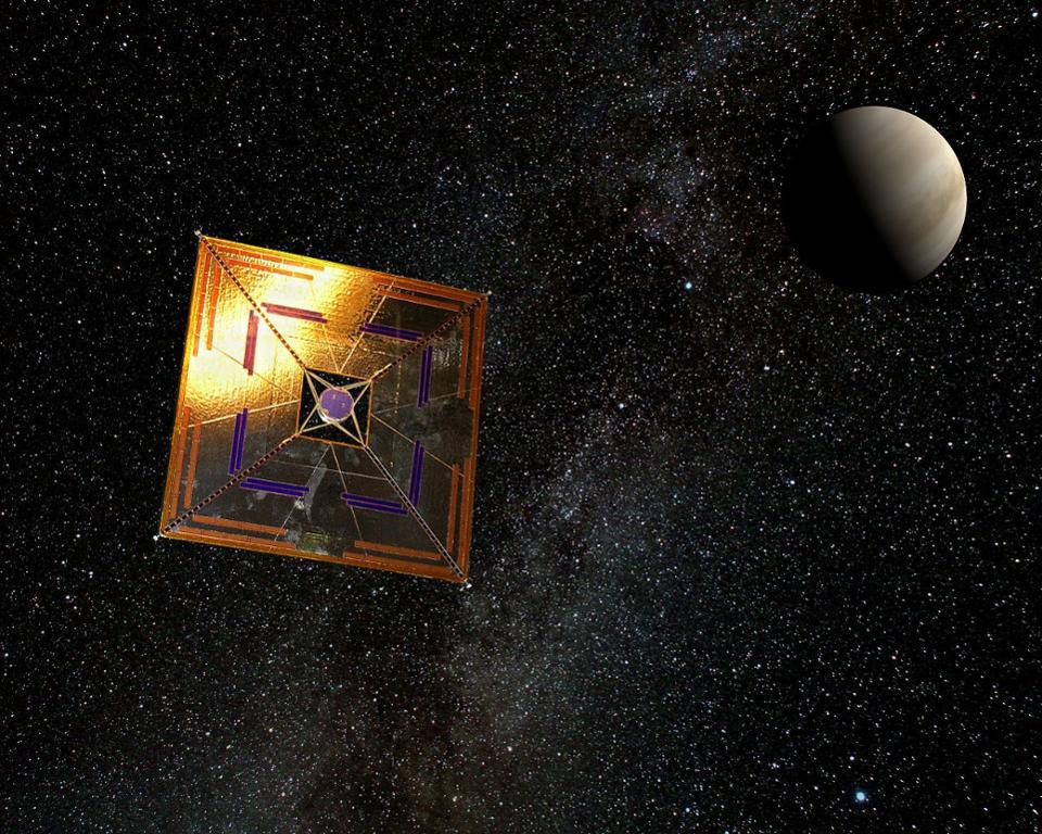 Normally, structures like IKAROS, shown here, are viewed as potential sails in space.