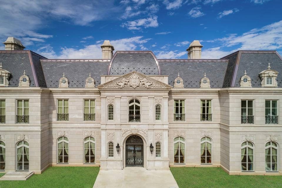 Newly constructed after the style of 17th & 18th centuries in France this home has a limestone exterior, mahogany doors and a Vermont slate roof