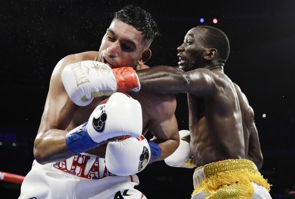 APTOPIX Crawford Khan Boxing