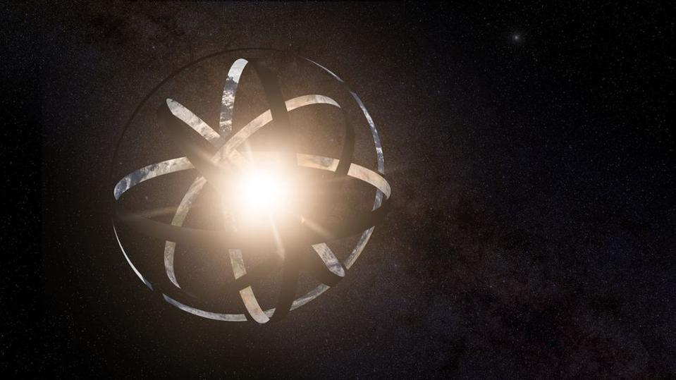 A partially-obscured star could be due to an alien megastructure that is not yet complete.