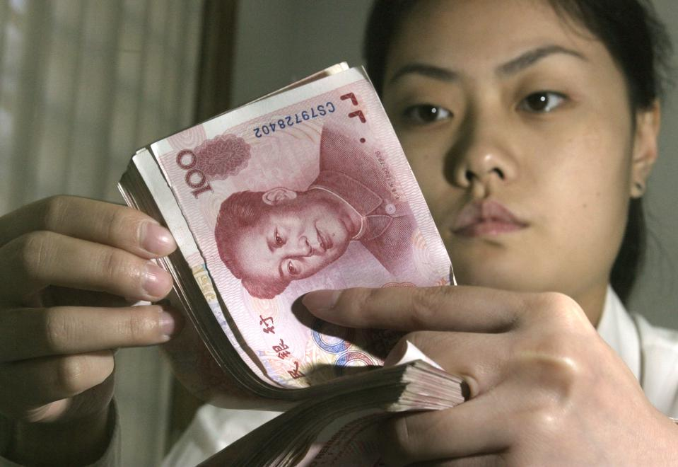 CHINA YUAN ONE DAY LATER