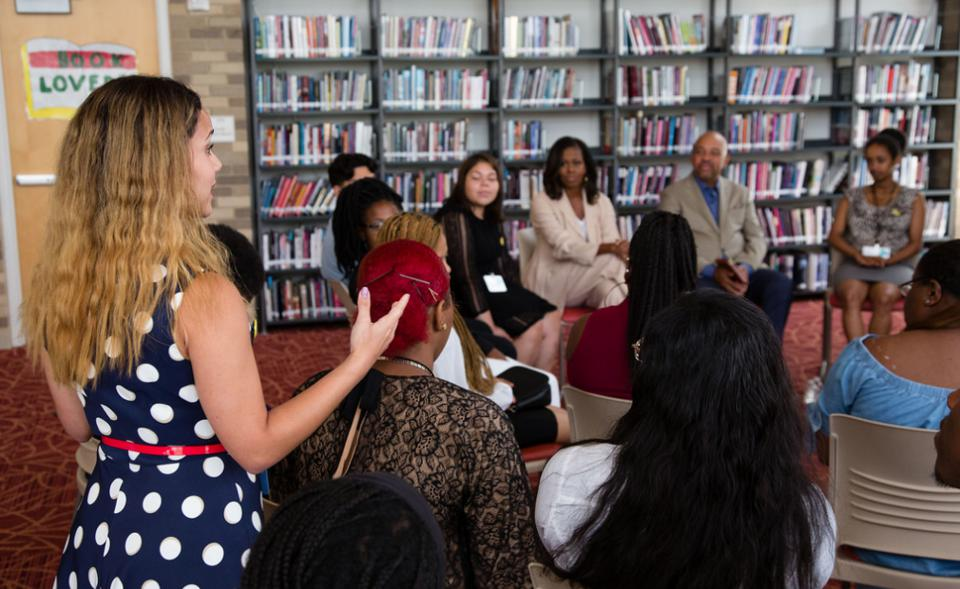 The trip truly became a once-in-a-lifetime opportunity when Michelle Obama invited the roadtrippers to join her at the Beating the Odds Summit during a stop in Washington, D.C.