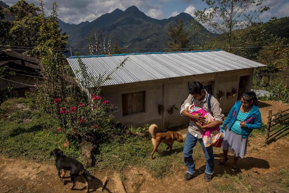 In Mexico's Veracruz State, José Santos Valdés Maldonado arrives home in Tlaxco with his wife and their newborn daughter, Deniss.