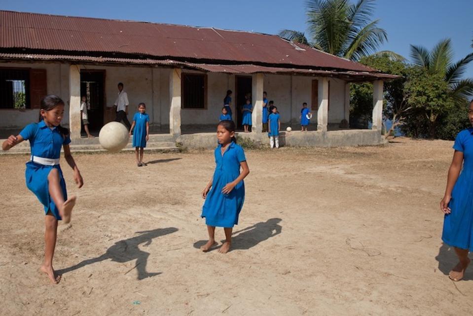 At Golachhari Government Primary School in Rangamati, Bangladeshin 2014.