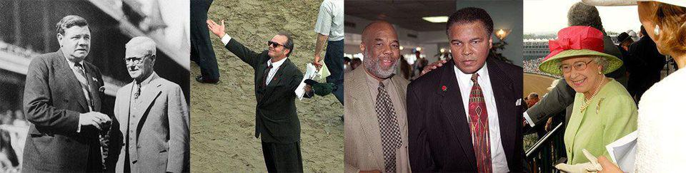 Over the years, Babe Ruth, Jack Nicholson, Muhammad Ali and Queen Elizabeth have attended the Kentucky Derby.