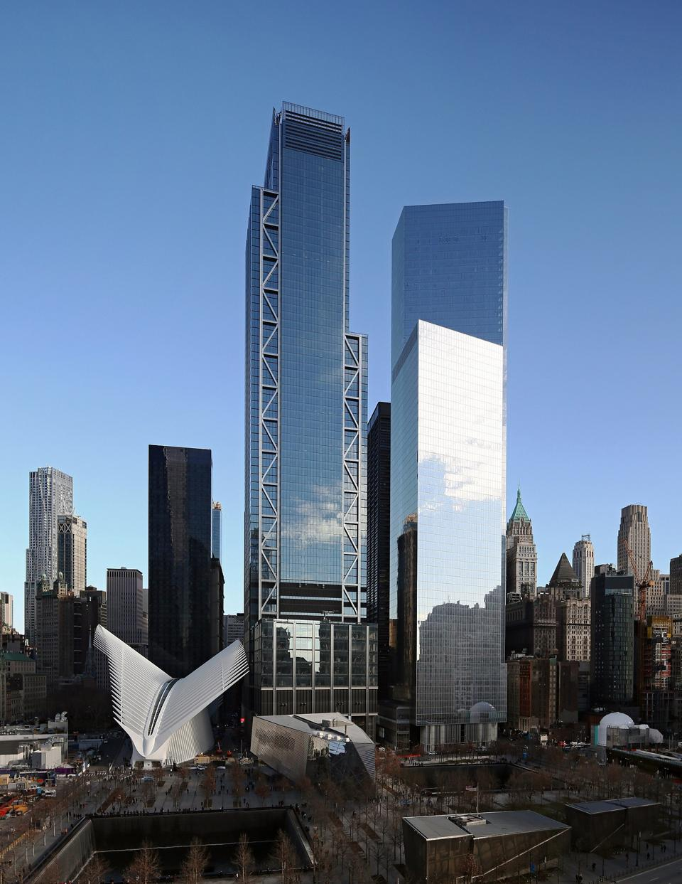 3WTC, center, was designed by Rogers Stirk Harbour + Partners.